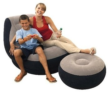 Amazon Com Intex Inflatable Ultra Lounge With Ottoman Sports