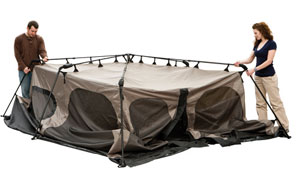 The tentu0027s poles come pre-attached to the tent body helping you pitch the tent in less than a minute.  sc 1 st  Amazon.com & Amazon.com : Coleman 8-Person Instant Cabin : Family Tents ...