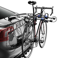 Thule 9009XT Archway 2-Bike Carrier mounted with bike