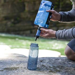 Filter into a Water Bottle