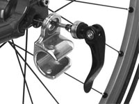 The Chariot bicycle trailer conversion kit installation image 2