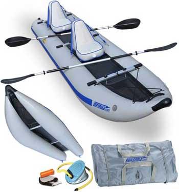 Amazon Com Sea Eagle 435 Paddle Ski Catamaran Inflatable