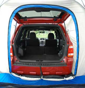 The vehicle sleeve is easily adjusted to ensure a custom fit to your vehicle. & Amazon.com : Sportz SUV Blue/Tan Tent (9 x9 x 7.25-Feet) : Family ...
