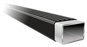 A square Thule LB78 load bar illustration showing the polyethylene coating