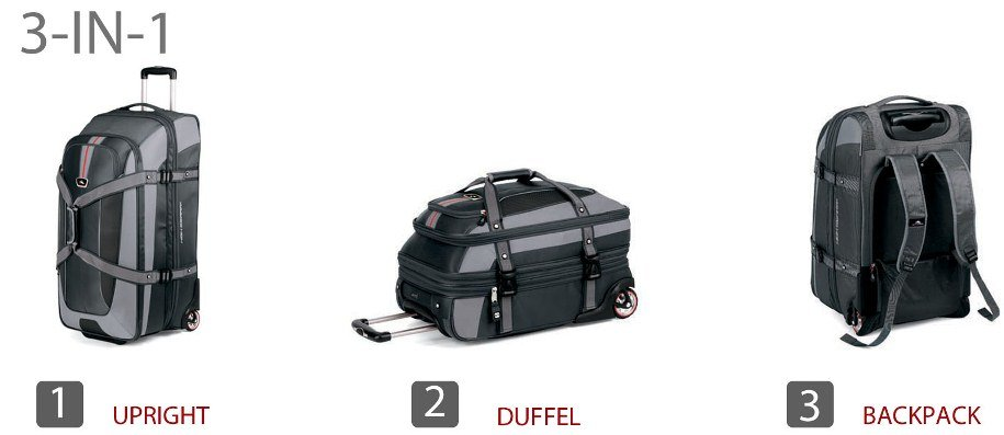 Amazon.com: High Sierra Expandable Wheeled Duffel Bag, Black ...