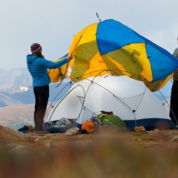 The Mountain Meteor 2 fly keeps you dry on rainy nights. & Sierra Designs Mountain Meteor 2 Mountaineering Tent (2 Person ...
