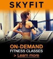 On-demand, studio quality fitness classes. Skyfit.