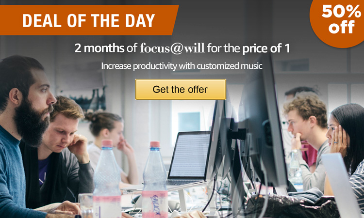 Deal of the Day: 2 months of Focus At Will for the price of 1. Get the offer.