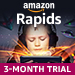 Amazon Rapids: Kindle Unlimited now includes a free 3-month trial of Amazon Rapids, a reading experience for kids age 5-12. Explore hundreds of illustrated short stories delivered in a playful and unique format. Learn more.