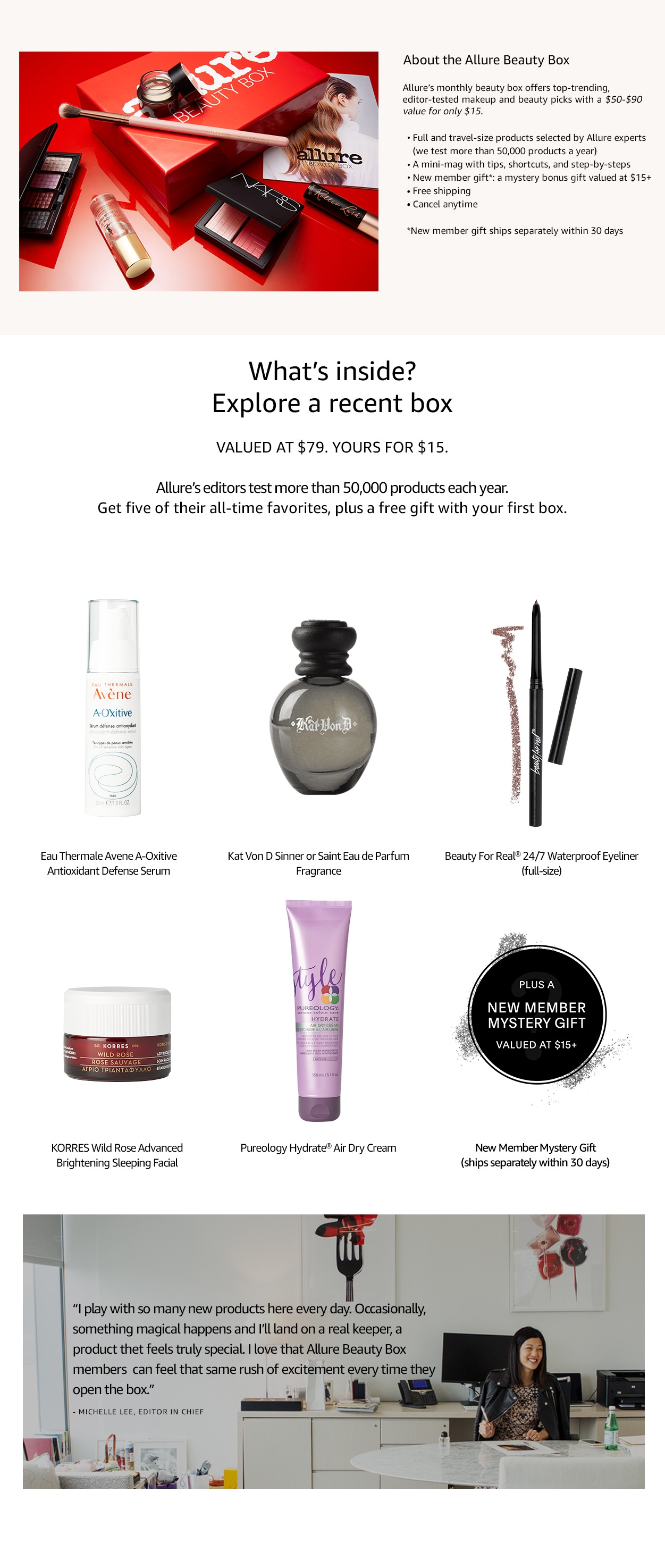 Amazon Allure Beauty Box Memberships and Subscriptions