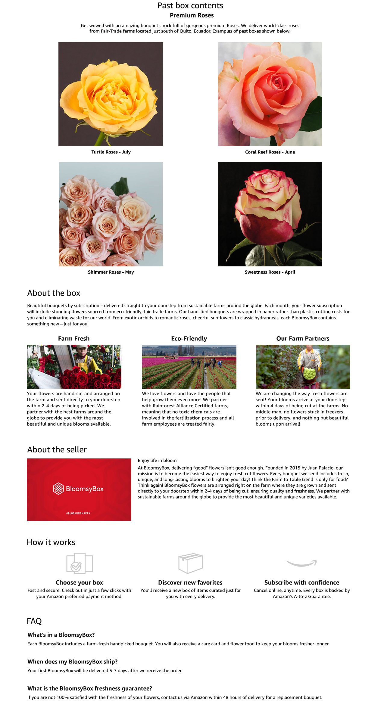 Amazon Bloomsybox Premium Roses Memberships And Subscriptions