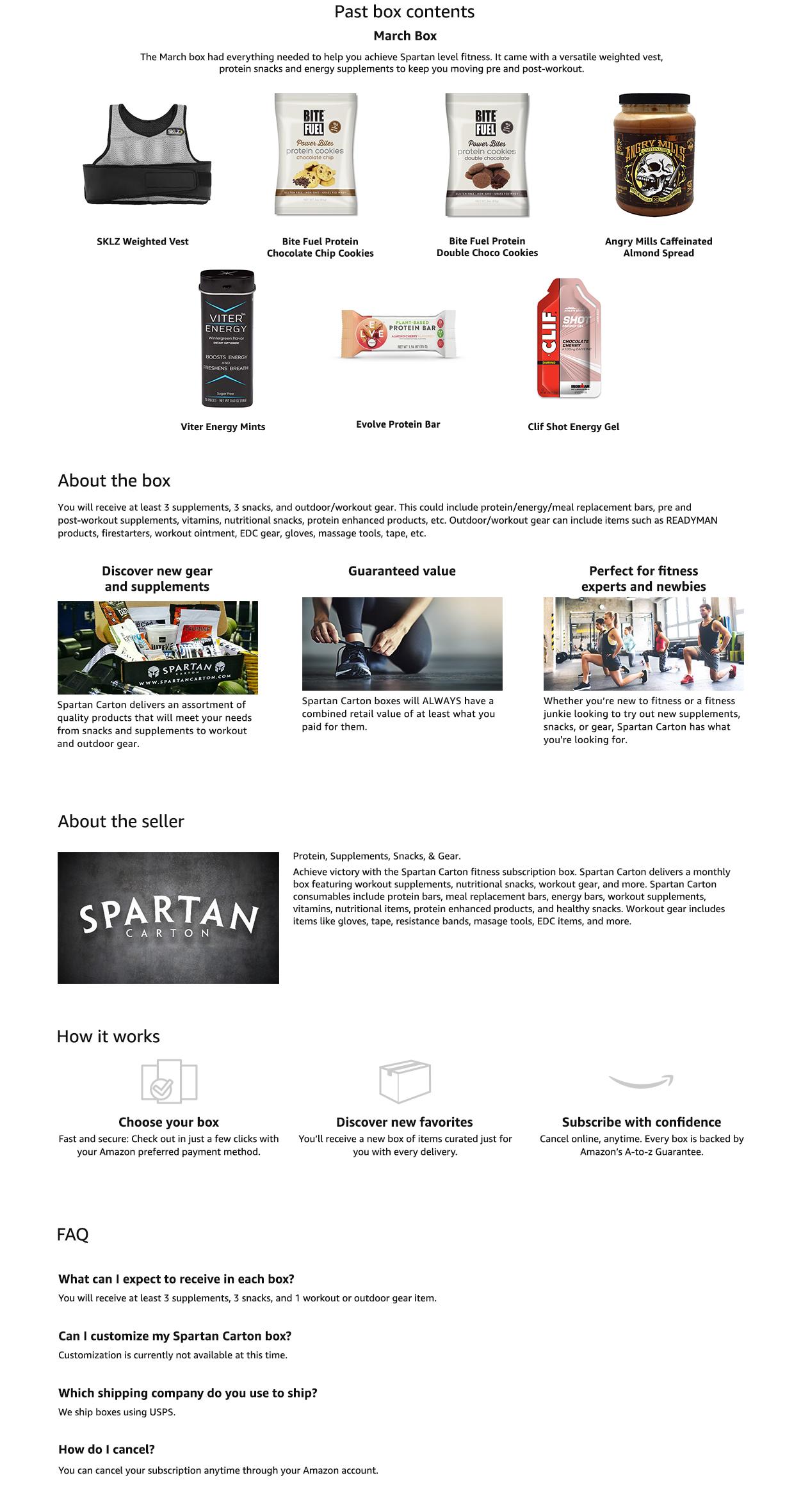 Amazon.com  Spartan Carton  Memberships and Subscriptions 7a7abec3e4