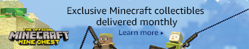 Mine Chest: Every chest is filled with exclusive Minecraft merch, including a full-color T-shirt, collectibles, toys, and more.