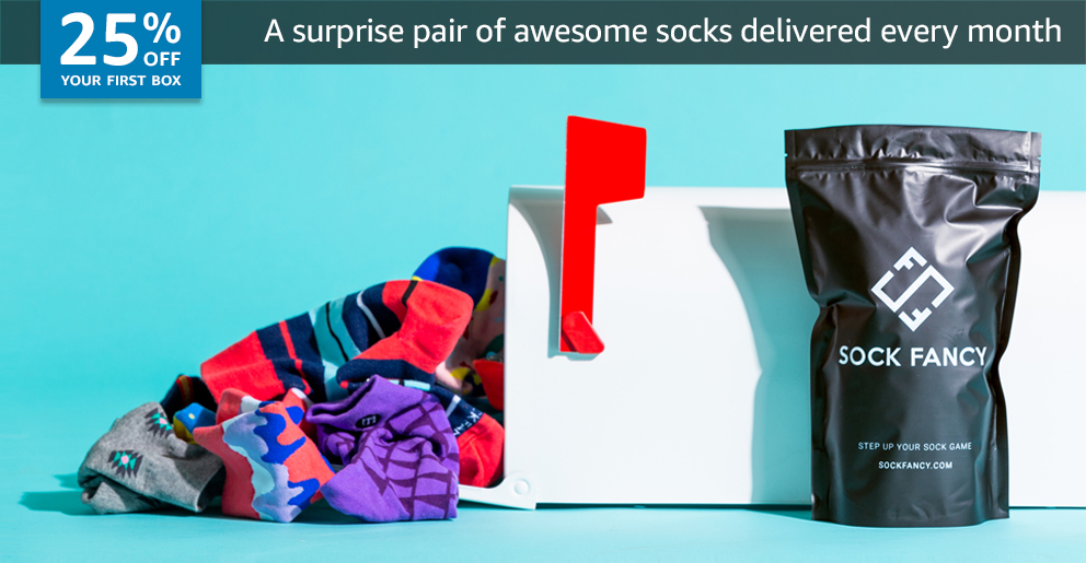 25% off your first box of Sock Fancy