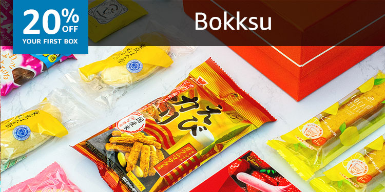 20% off your first box of Bokksu: Authentic Japanese Snacks