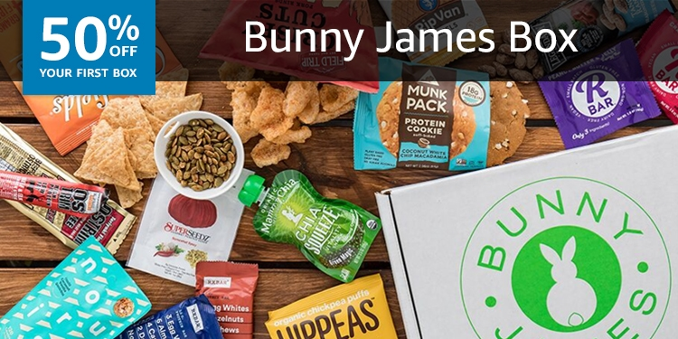 50% off your first box of Bunny James Box