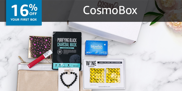 50% off your first box of Cosmo Box