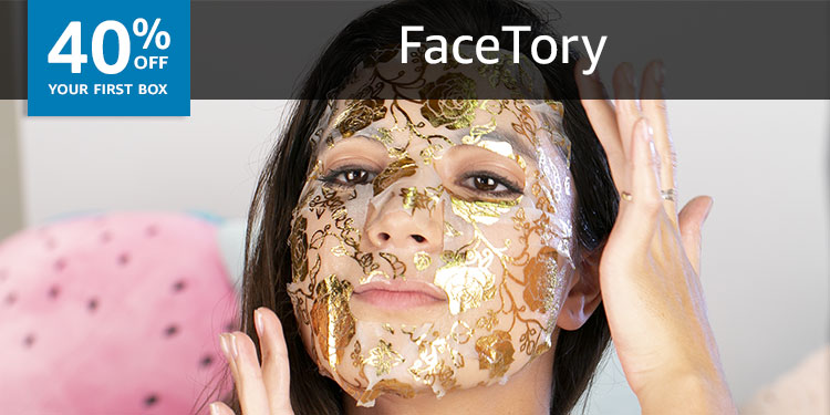 40% off your first box of Facetory