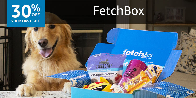 30% off your first box of FetchBox