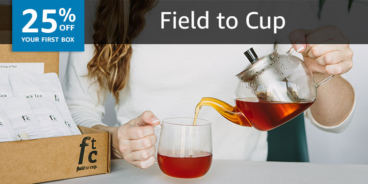 25% off your first box of Field to Cup