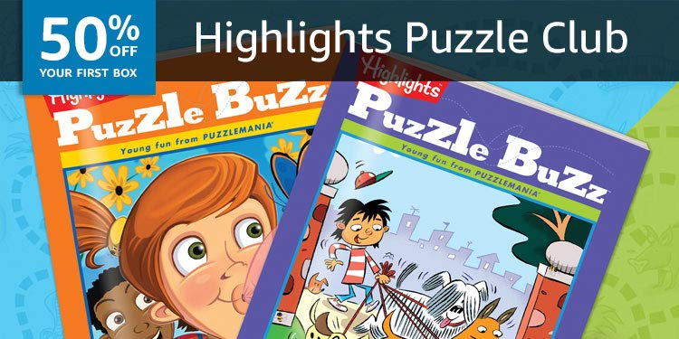 50% off your first Highlights Puzzle Club: Discover puzzle books full of games and more