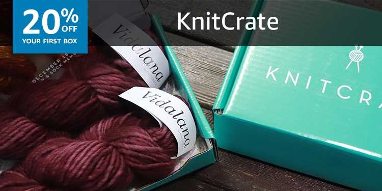 20% off your first box of KNITCRATE