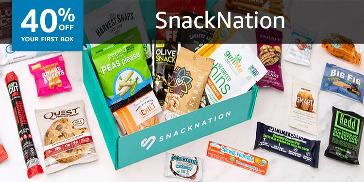 40% off your first box of SnackNation