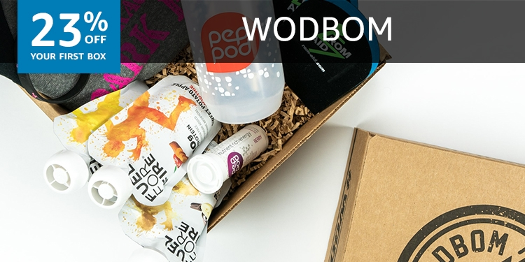 23% off your first box of WODBOM