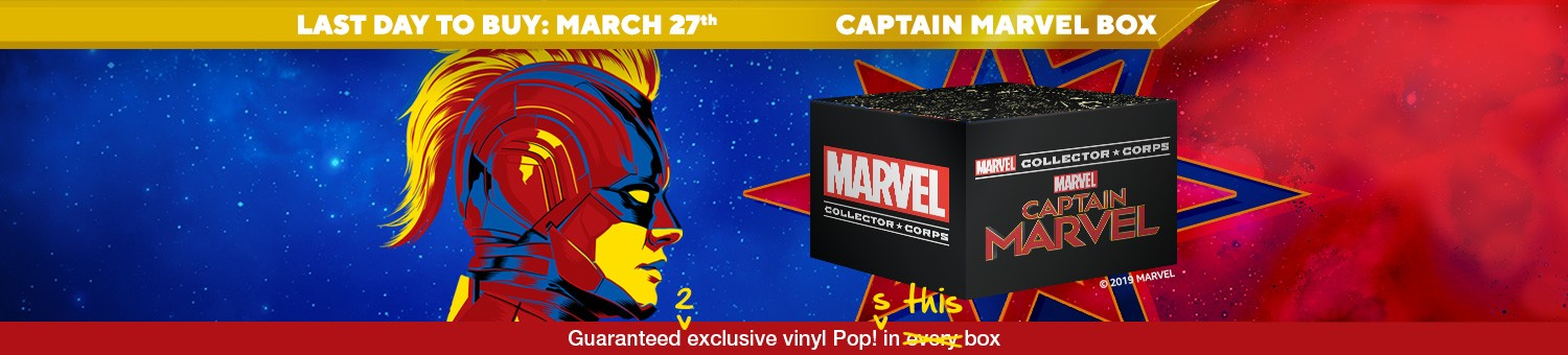 Funko Marvel Collector Corps Box: Join the Marvel-ous Carol Danvers on the quest of a lifetime with the Captain Marvel Collector Corps subscription box.