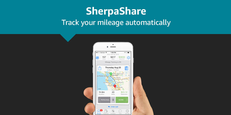 SherpaShare: Track your mileage automatically