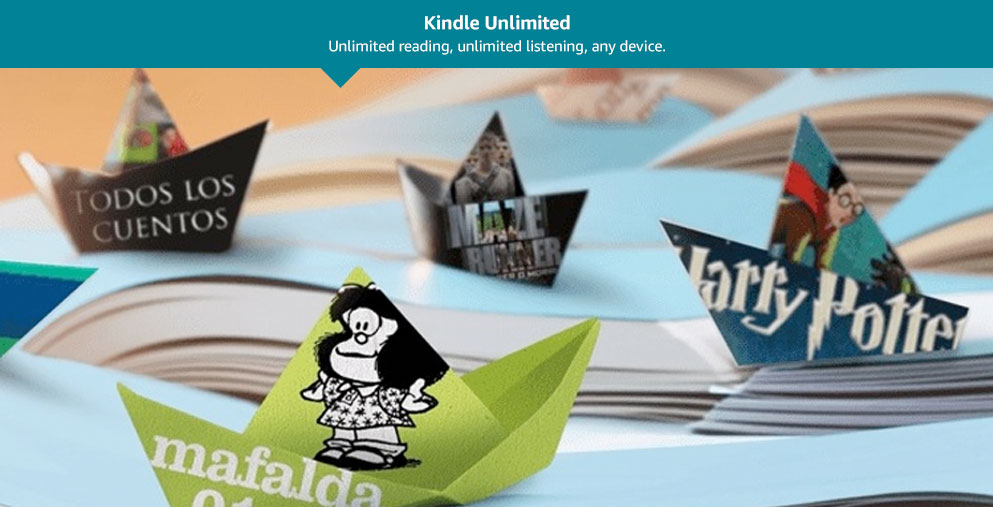 Kindle Unlimited: Unlimited reading. Unlimited listening. Any device.