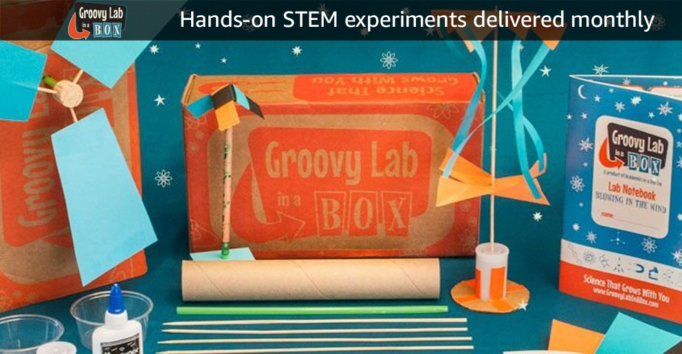 Groovy Lab: Hand-on STEM experiments delivered monthly