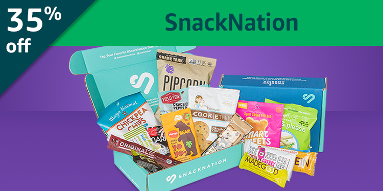 Black Friday Week: 35% off SnackNation: New and healthy snack from around the world