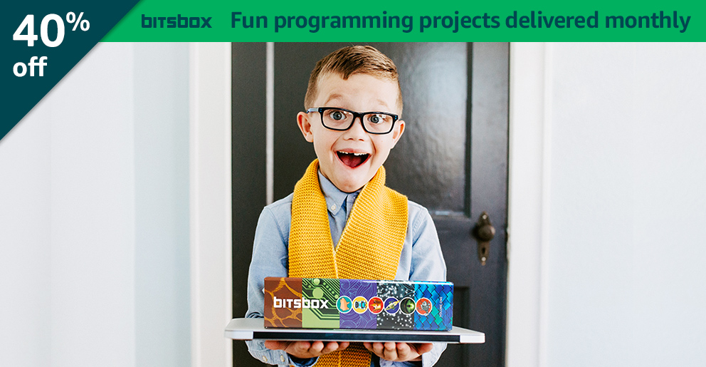 Black Friday Week: 40% off Bitsbox: Fun programming projects delivered monthly