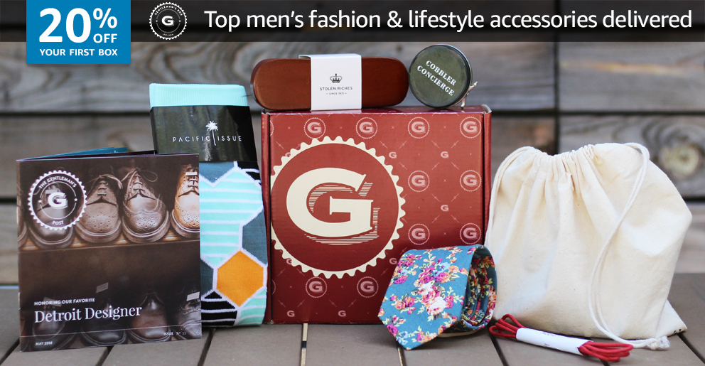 20% off your first box of Gentleman's Box
