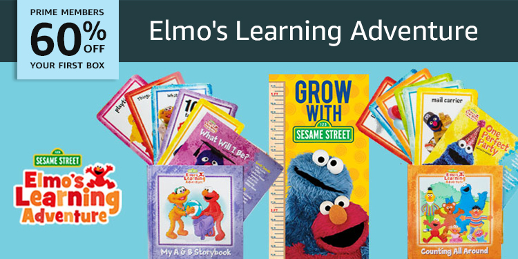 60% off your first box of Elmo's Learning Adventure