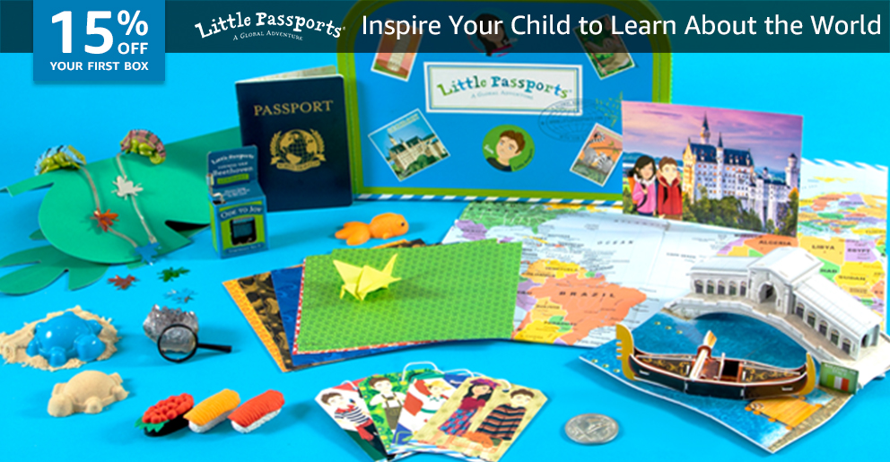 15% off your first box of Little Passports- World Edition
