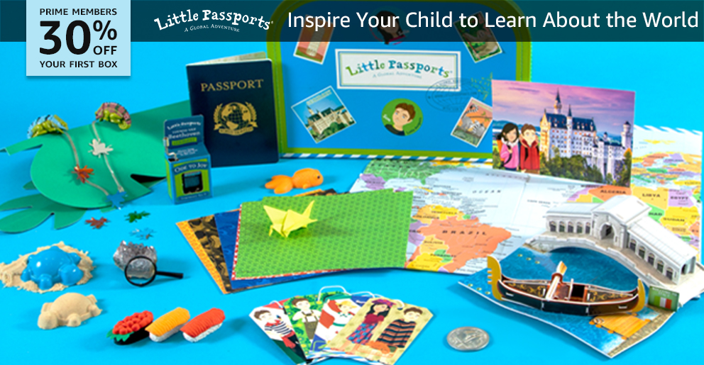 30% off your first box of Little Passports World Edition