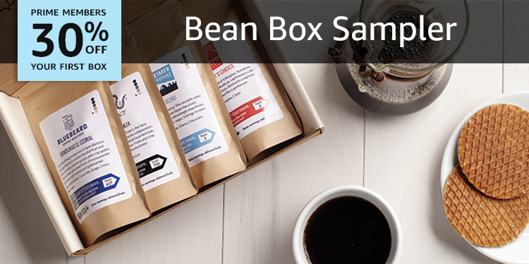 30% off your first box of BeanBox Sampler