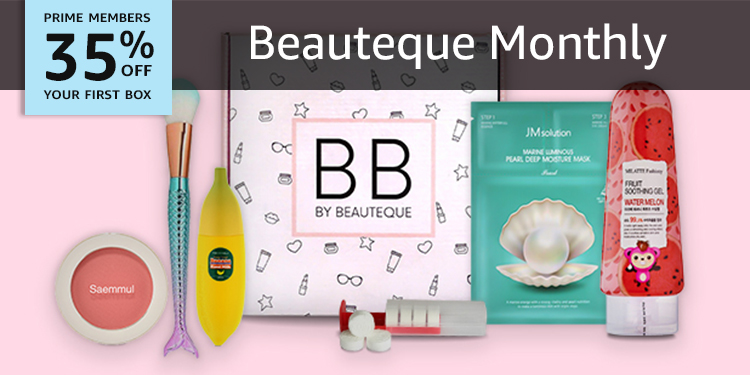 35% off your first box of Beauteque Monthly