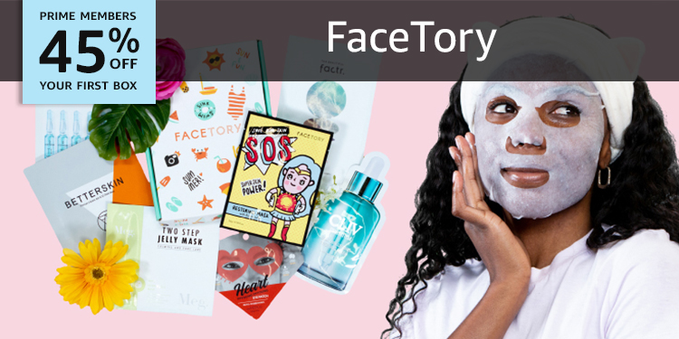 45% off your first box of FaceTory