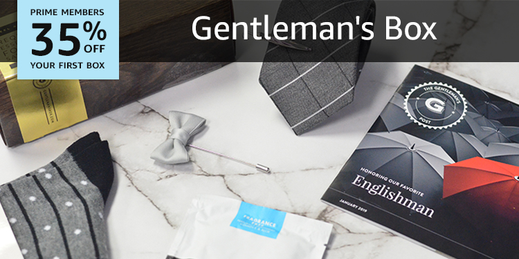35% off your first box of Gentleman's Box