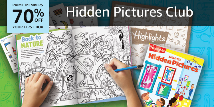 70% off your first box of Highlights Hidden Pictures Club