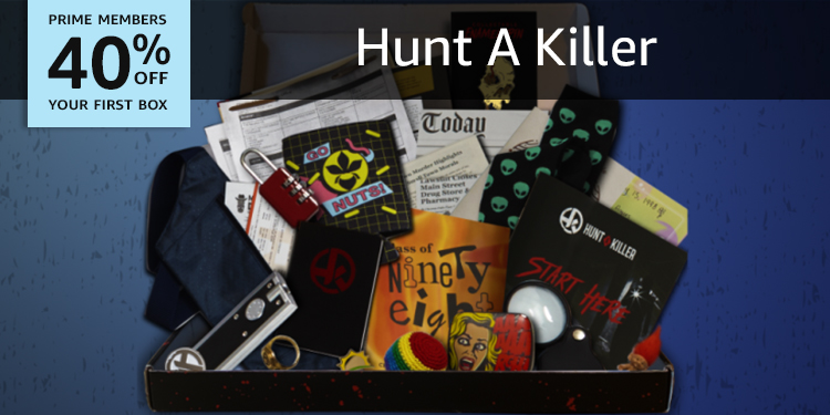 40% off your first box of Hunt a killer