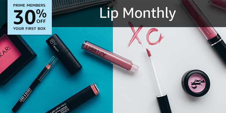 30% off your first box of Lip Monthly