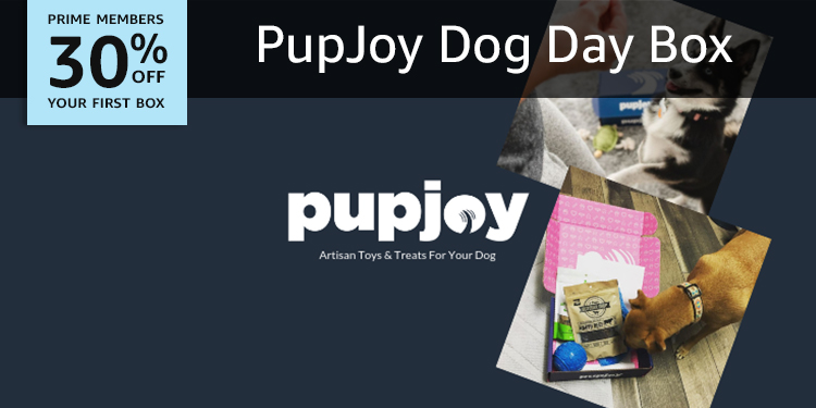 30% off your first box of PupJoy Dog Day Box