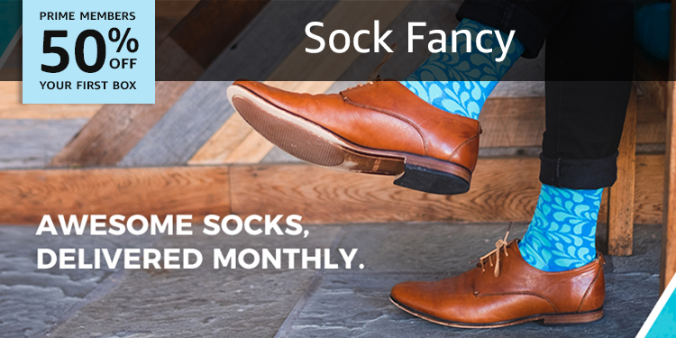 50% off your first Sock Fancy