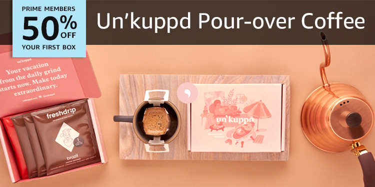 50% off your first box of Un'Kuppd