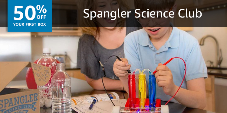 50% off your first Spangler Science Club