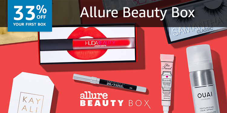 33% off your first box of Allure Beauty Box
